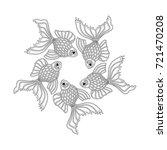 vector hand drawn goldfishes... | Shutterstock .eps vector #721470208