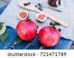 pomegranates  fresh figs and... | Shutterstock . vector #721471789