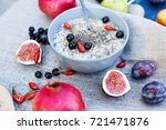 oatmeal with fruits  berries... | Shutterstock . vector #721471876