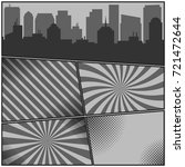 comic book monochrome pages...   Shutterstock .eps vector #721472644