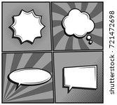 vector set of empty template...   Shutterstock .eps vector #721472698