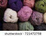 knitting needles  colorful... | Shutterstock . vector #721472758