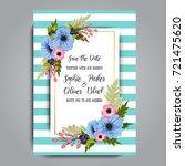 wedding invitation card suite...   Shutterstock .eps vector #721475620