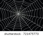 white spider web on black... | Shutterstock .eps vector #721475773