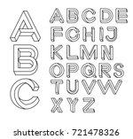 impossible shape font. memphis... | Shutterstock .eps vector #721478326