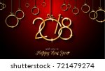 2018 happy new year background... | Shutterstock .eps vector #721479274
