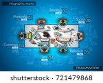 infograph background template... | Shutterstock .eps vector #721479868