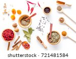 spicy food cooking with spices... | Shutterstock . vector #721481584