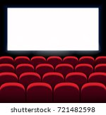 red vector seats. movie  cinema ... | Shutterstock .eps vector #721482598