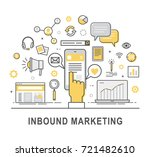 inbound marketing vector. | Shutterstock .eps vector #721482610