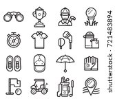 golf icons set in line art... | Shutterstock .eps vector #721483894