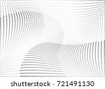 abstract halftone wave dotted... | Shutterstock .eps vector #721491130
