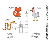 funny animals crossword for... | Shutterstock .eps vector #721493854
