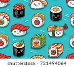 cute seamless pattern with... | Shutterstock .eps vector #721494064
