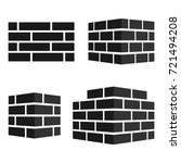 set of bricks icons. bricks... | Shutterstock .eps vector #721494208