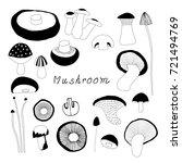 mushroom vector | Shutterstock .eps vector #721494769