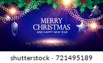 merry christmas background with ... | Shutterstock .eps vector #721495189