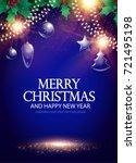 christmas shining poster... | Shutterstock .eps vector #721495198
