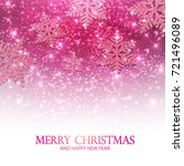 merry christmas pink shining... | Shutterstock .eps vector #721496089