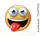 emoji isolated on white... | Shutterstock . vector #721497010