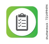 isolated clipboard icon symbol... | Shutterstock .eps vector #721499494