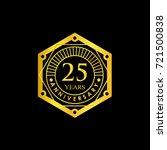 logo badge anniversary black... | Shutterstock .eps vector #721500838