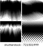 grunge halftone dots vector... | Shutterstock .eps vector #721501999