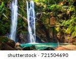 waterfall pool landscape | Shutterstock . vector #721504690