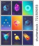 precious stones colourful... | Shutterstock . vector #721505053