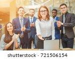business handshake. business... | Shutterstock . vector #721506154