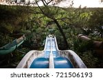 slider and swimming pool in... | Shutterstock . vector #721506193