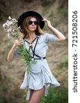 portrait of a model girl in a... | Shutterstock . vector #721508206