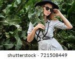 portrait of a model girl in a... | Shutterstock . vector #721508449