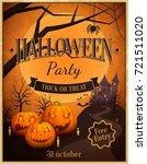 halloween party trick or treat  ... | Shutterstock .eps vector #721511020