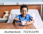 portrait of little african... | Shutterstock . vector #721511194