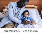 african american man sitting... | Shutterstock . vector #721511206
