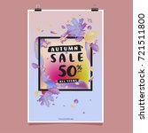 vector autumn sale poster... | Shutterstock .eps vector #721511800