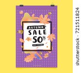vector autumn sale poster... | Shutterstock .eps vector #721511824