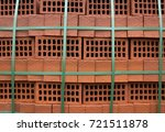 building materials  red brick... | Shutterstock . vector #721511878
