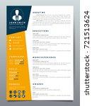 resume design template... | Shutterstock .eps vector #721513624