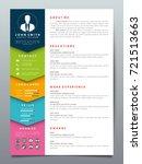 resume design template... | Shutterstock .eps vector #721513663