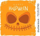 scary face from a pumpkin on a... | Shutterstock .eps vector #721515790