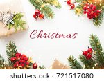 christmas background with xmas... | Shutterstock . vector #721517080