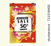 vector autumn sale poster...   Shutterstock .eps vector #721518400
