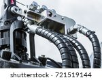 hydraulics and fuel system... | Shutterstock . vector #721519144