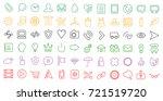 set of web linear flat ui icons ...