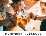 friends toasting with glasses... | Shutterstock . vector #721520998