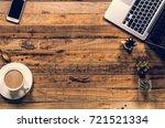 office stuff and it gadgets...   Shutterstock . vector #721521334