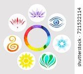 7 color of chakra symbol... | Shutterstock . vector #721522114
