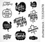 thanksgiving vector... | Shutterstock .eps vector #721524478
